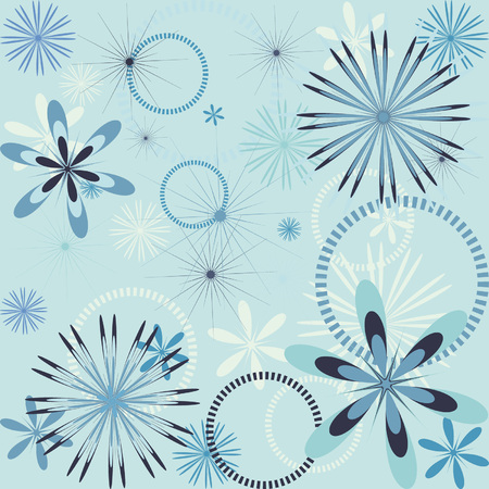 Seamless wallpaper with snowflake pattern Illustration