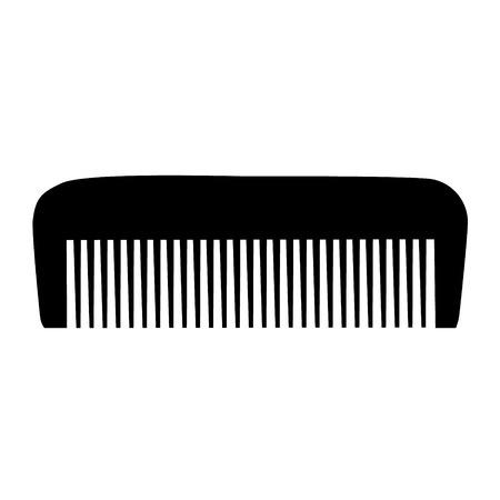 personal grooming: Comb , Barber comb, black plastic comb illustration Illustration