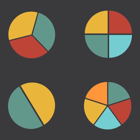 3 4: graph circle 2 3 4 5 set illustration round Illustration