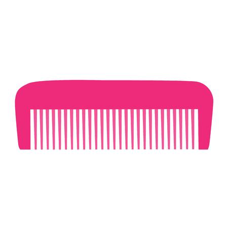 comb: Comb , Barber comb, pink plastic comb illustration