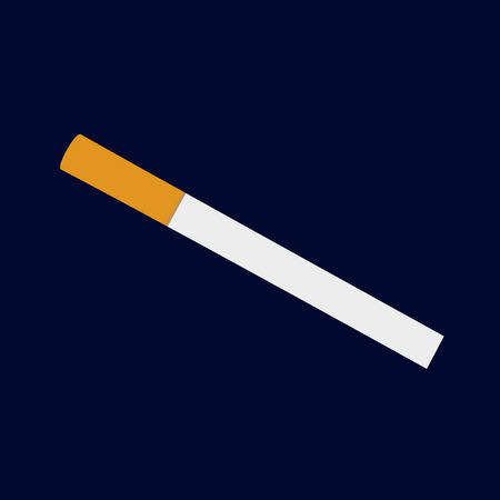 pernicious habit: isolated classical cigarette illustration