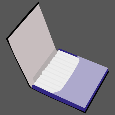 pernicious habit: blue cigarette case vector illustration