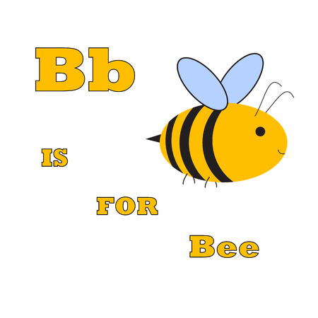 b is for bee abstract illustration for ABC vector Illustration