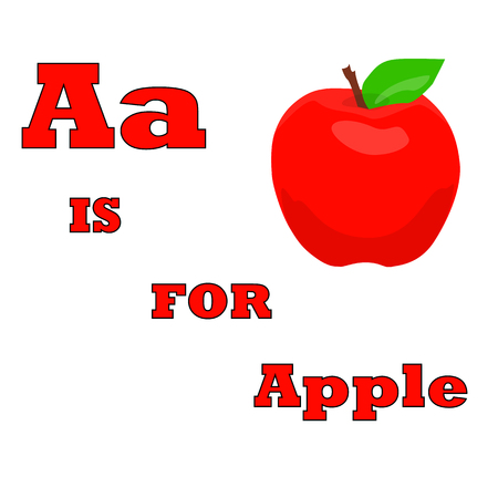 a is for apple abstract illustration for ABC vector Иллюстрация