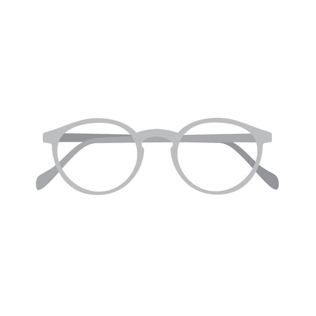 spectacle frame: Grey glasses for reading. Vector illustration