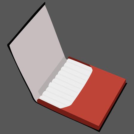 baccy: brown cigarette case vector illustration