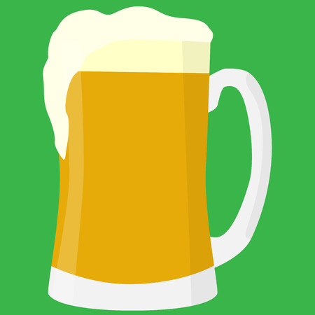 mug of beer vector illustration