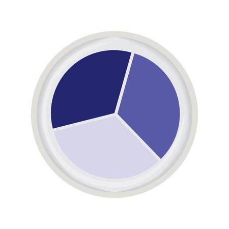 trio: eye shadow trio blue vector illustration Illustration