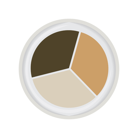 trio: eye shadow trio brown vector illustration