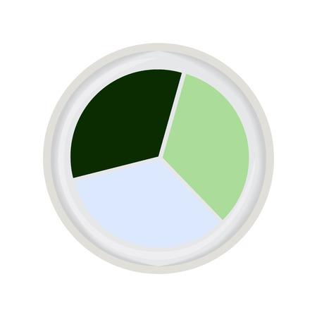 trio: eye shadow trio green vector illustration Illustration