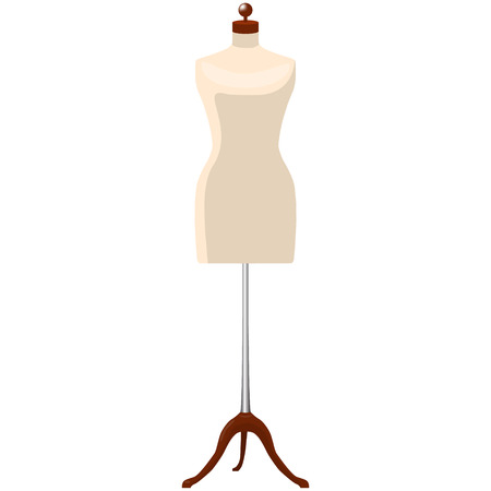 woman mannequine dummy tailor isolated vector illustration