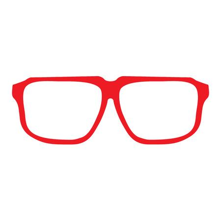 unisex: Hipster Glasses Icon. Unisex glasses red. Vector illustration Illustration