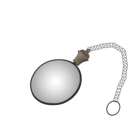 monocle: Monocle isolated - vector illustration Illustration