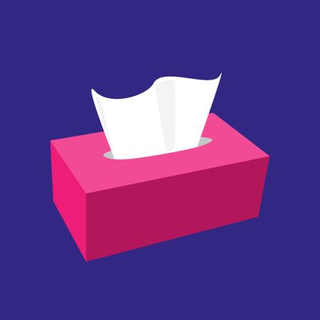 napkinbox full pink isolated vector illustration Illustration