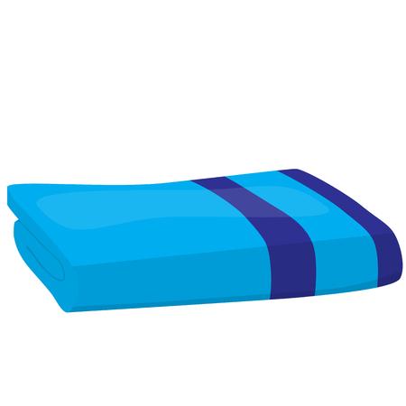 absorbent: blue domestic bath beach towel isolated vector illustration Illustration