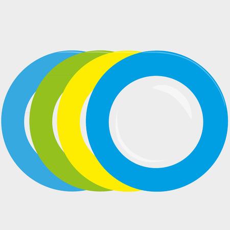 colourfull: colourfull plates vector illustration Illustration