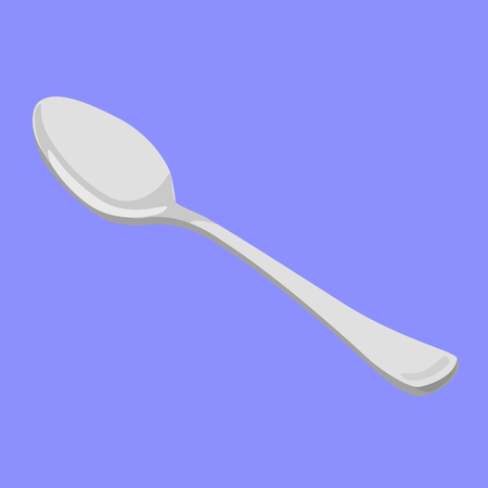 tablespoon steel shiny vector illustration Illustration