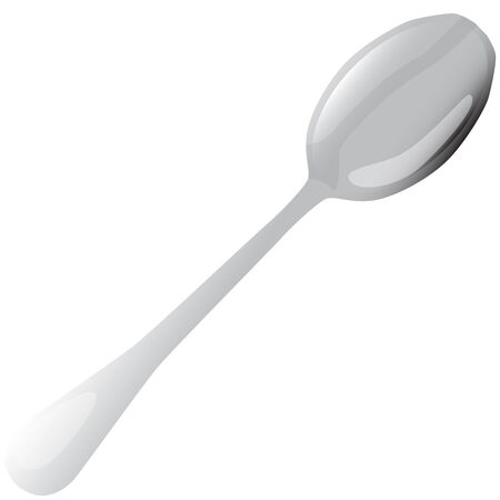 tablespoon: metal tablespoon vector illustration Illustration