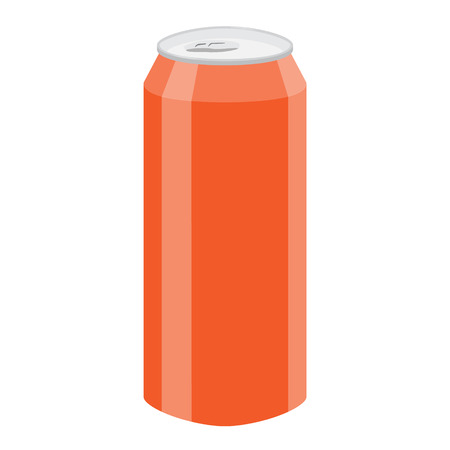 beer can: orange soda beer can vector illustration