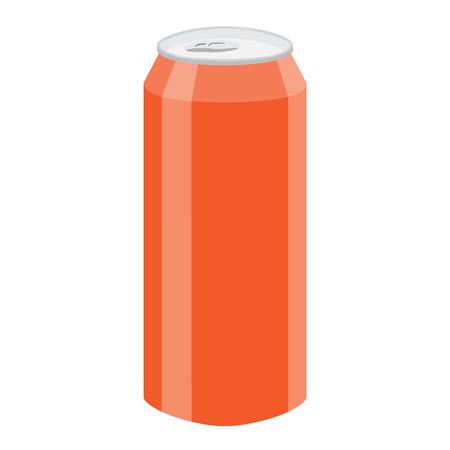 tin packaging: orange soda beer can vector illustration