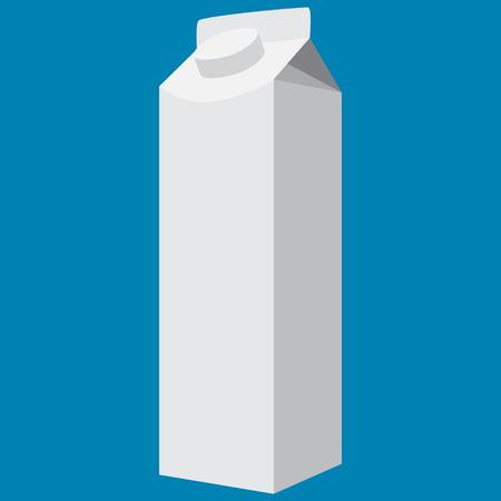 milkbox white vector illustration Illustration