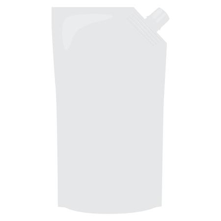 sauce pack soft white vector illustration