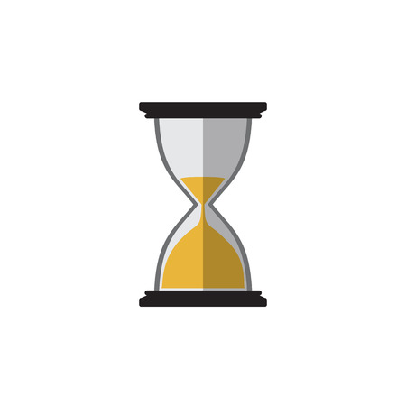 Hourglass icon black with sand vector illustration Illustration