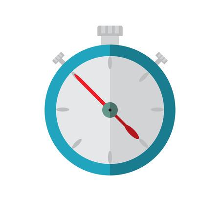cronometro: Ilustración de vector de icono plano azul cronómetro