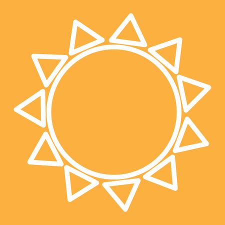 sun isolated outline icon vector illustration Illustration