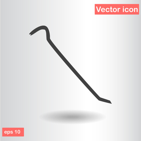 pry: crowbar black silhouette vector illustration