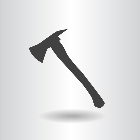 dangerous work: icon silhouette fire axe black isolated flat vector illustration Illustration