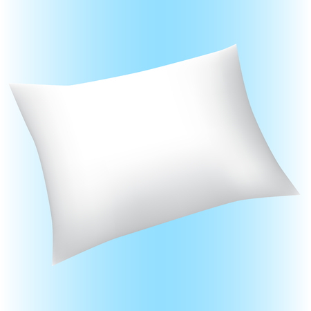 white pillow: rectangle big white pillow realistic isolated vector illustration Illustration