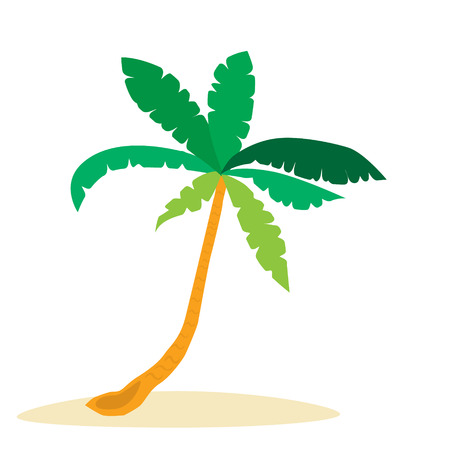 palm tree tropical island sand vector illustration