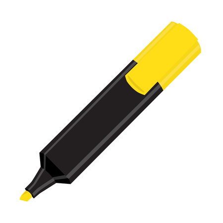 Isolated black yellow marker vector illustration