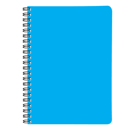 note book blue vector illustration