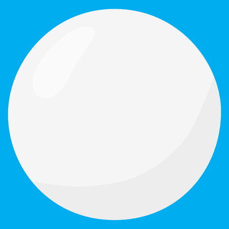 tennisball: tennis table ball white isolated vector illustration