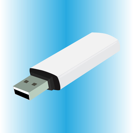 usb flash drive white vector illustration Illustration