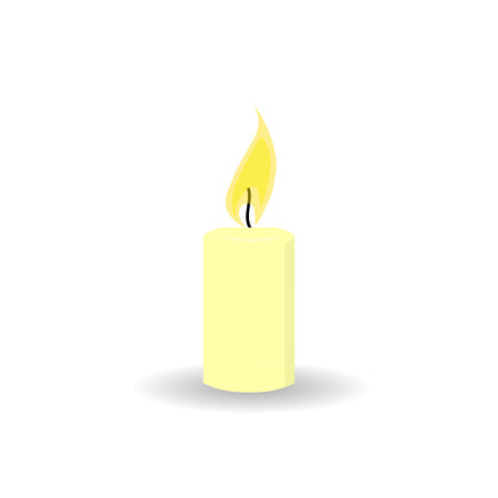 burning: Burning candle. Vector illustration Illustration