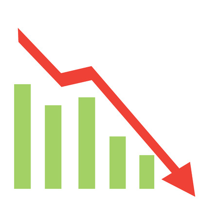 graph_down_red_flat_vector_illustration