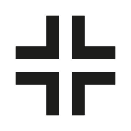 gamma: Gamma Cross Icon black silhouette. Ancient Christian sign. Vector illustration.