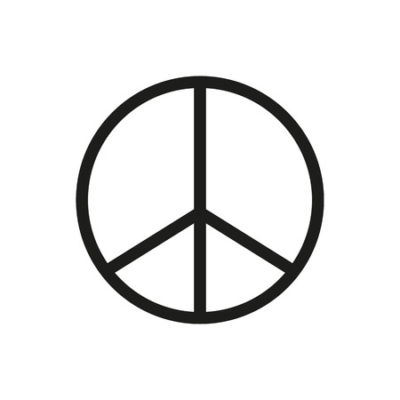 Peace Sign Icon black silhouette. Vector illustration.