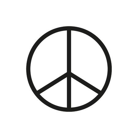 Peace Sign Icon black silhouette. Vector illustration.