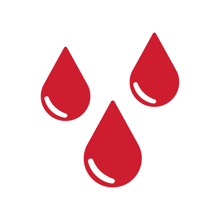 reflection of life: Drops of blood icon. Vector illustration