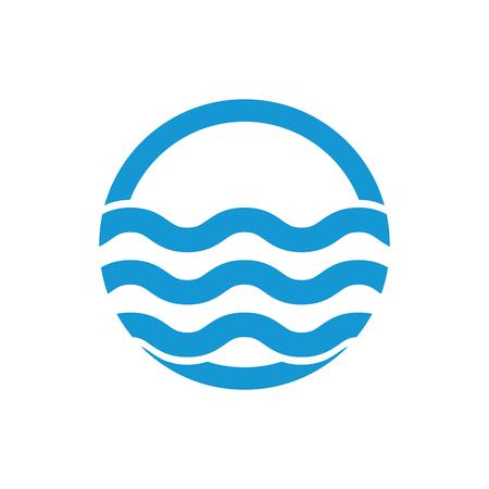 sea water: Water waves. Sea flowing sign. Water symbol. Black. Vector illustration.