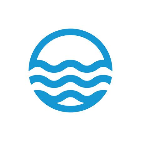 Water waves. Sea flowing sign. Water symbol. Black. Vector illustration.