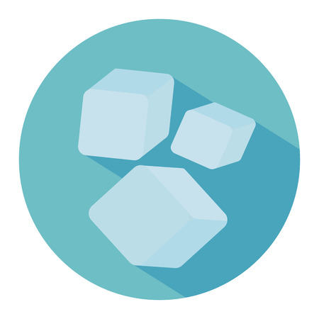 refrigerate: Ice cubes set. Blue ice cubes. Vector illustration