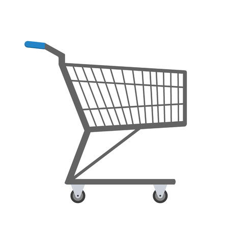 Shopping trolley. Vector illustration