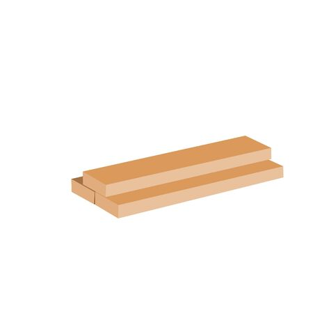 wooden planks raster illustration