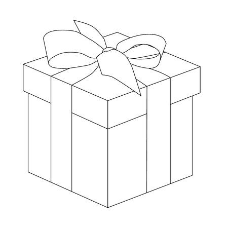 Christmas gift box outlines