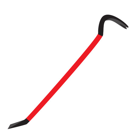 crowbar steeel red black tool raster illustration